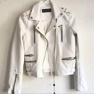 BlankNYC | White Moto Vegan Leather Jacket
